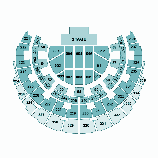 Hydro Glasgow Seating Plan