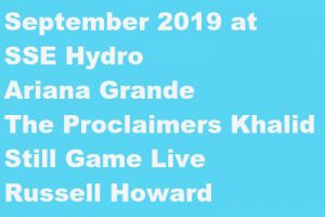sse hydro tickets september 2019