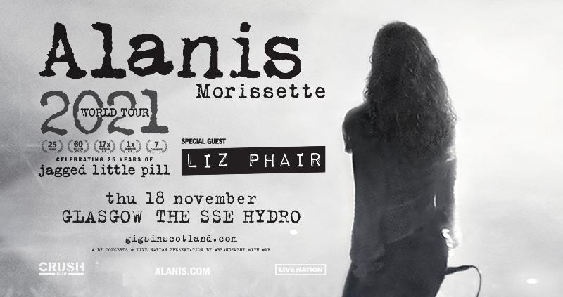 alanis morissette tickets hydro glasgow